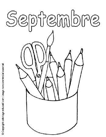 Mois de septembre coloriage mois d 39 avril maternelle - Coloriage mois d avril ...